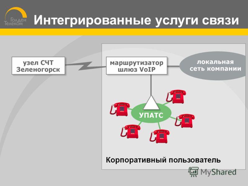 Корпоративный пользователь Интегрированные услуги связи
