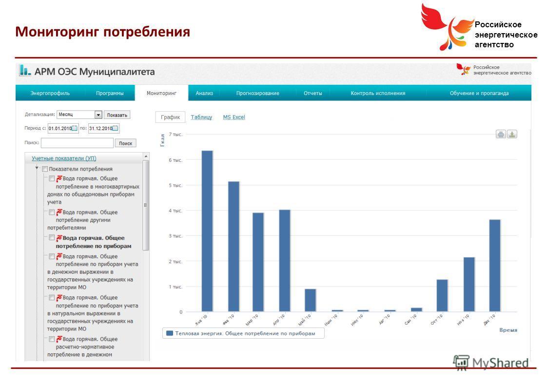 Российское энергетическое агентство Мониторинг потребления