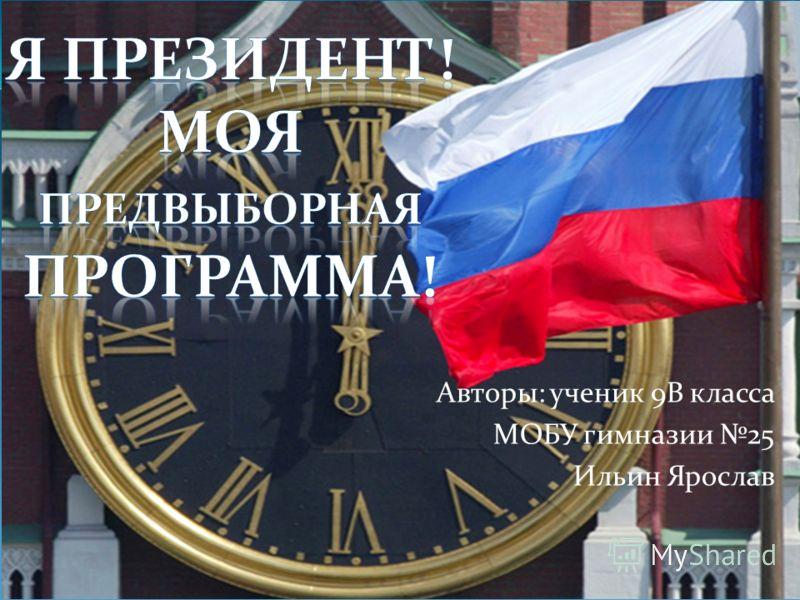 Авторы: ученик 9В класса МОБУ гимназии 25 Ильин Ярослав