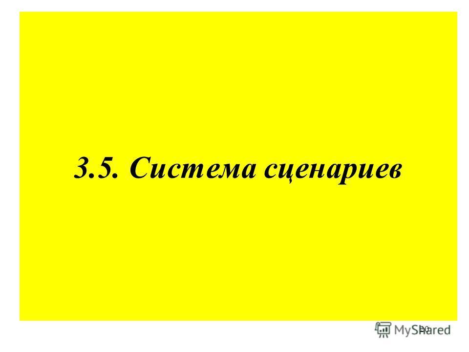20 3.5. Система сценариев