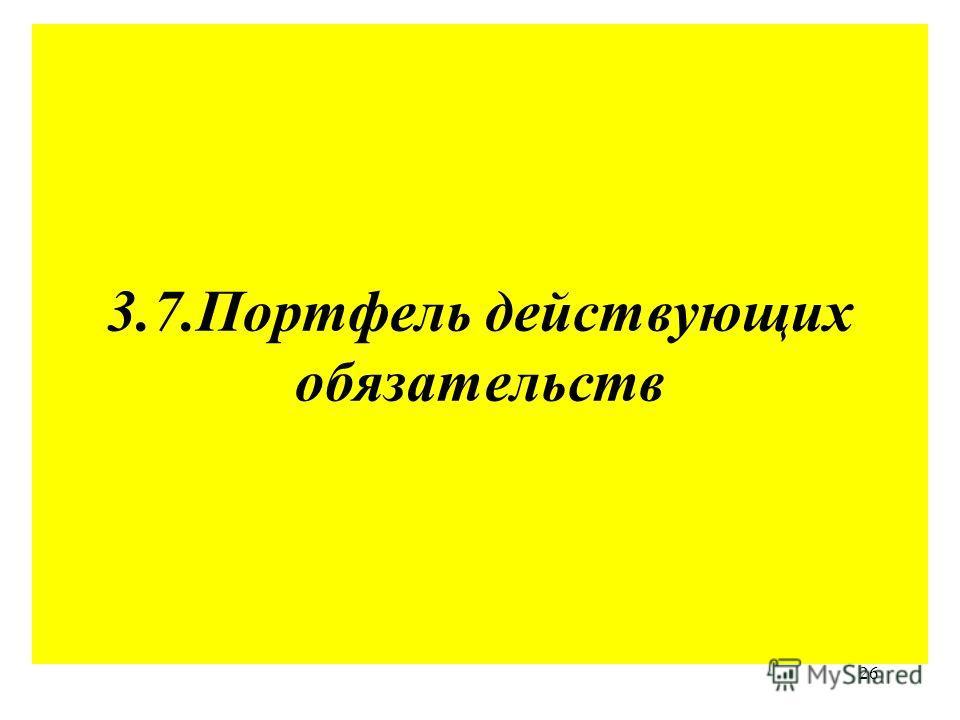 26 3.7.Портфель действующих обязательств