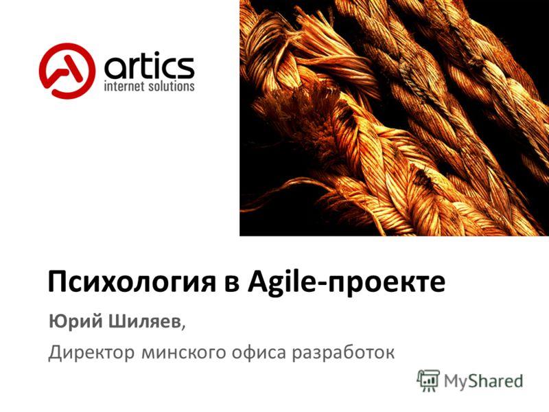 Психология в Agile-проекте Юрий Шиляев, Директор минского офиса разработок