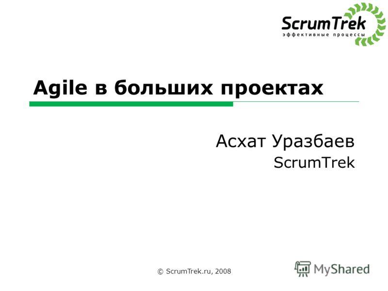 Agile в больших проектах Асхат Уразбаев ScrumTrek © ScrumTrek.ru, 2008