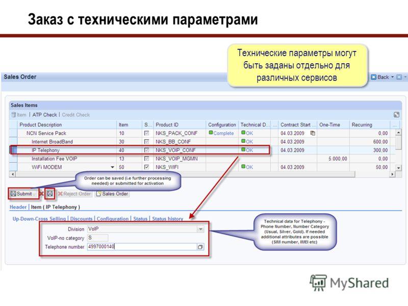 Заказ со связанными компонентами Заказ клиента с связанными компонентами. Данные о технических проверках и планируемая дата подключения полученные сторонних систем.