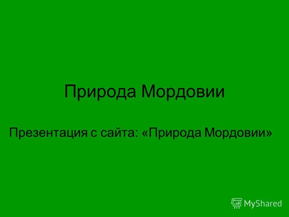 Природа Мордовии Презентация с сайта: «Природа Мордовии»