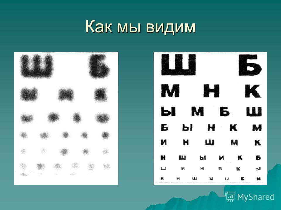 Глаз представляет собой оптическую систему, дающую уменьшенное, обратное, действительное изображение на светочувствительной сетчатой оболочке глазного яблока. Основной элемент оптической системы глаза, хрусталик - это двояковыпуклая линза. Кривизна п