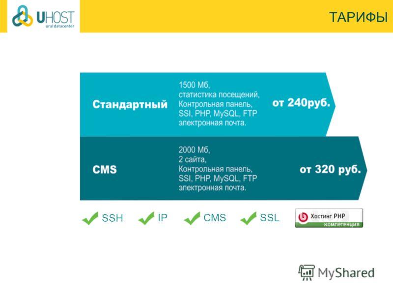 ТАРИФЫ SSH IPCMSSSL