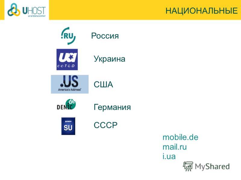 Россия НАЦИОНАЛЬНЫЕ mobile.de mail.ru i.ua СССР Украина США Германия