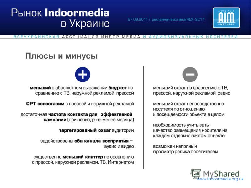 www.indoormedia.org.ua Плюсы и минусы