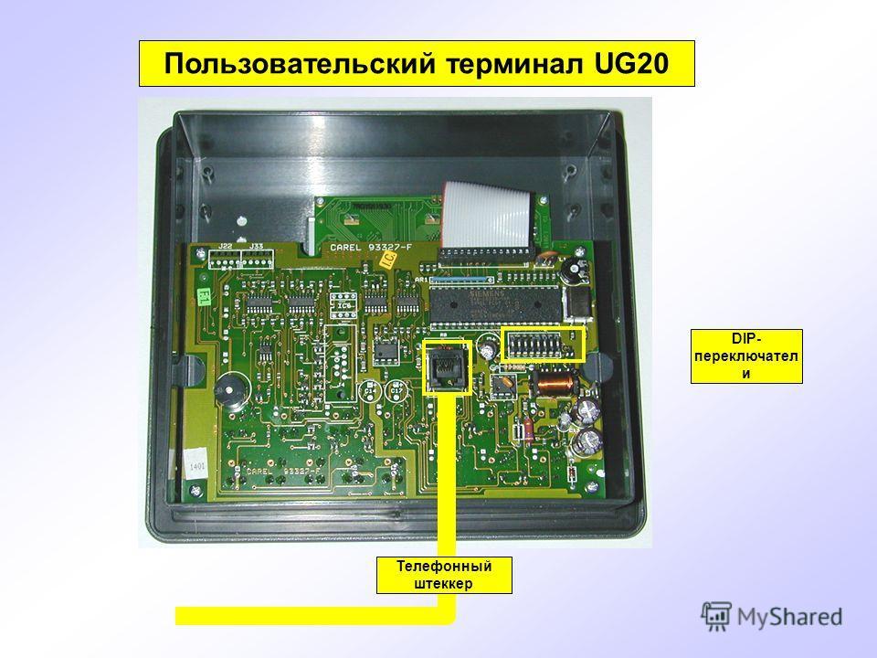 Пользовательский терминал UG20 DIP- переключател и Телефонный штеккер