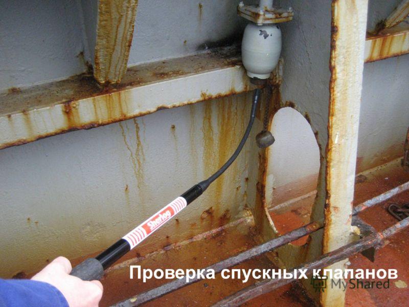 Checking drain valves Проверка спускных клапанов