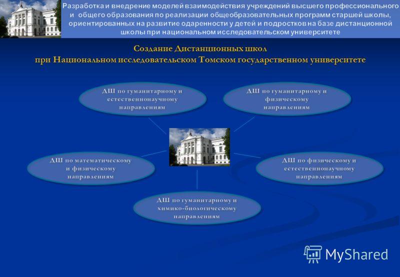 Создание Дистанционных школ при Национальном исследовательском Томском государственном университете