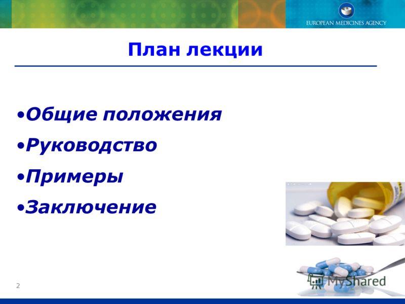 2 План лекции Общие положения Руководство Примеры Заключение