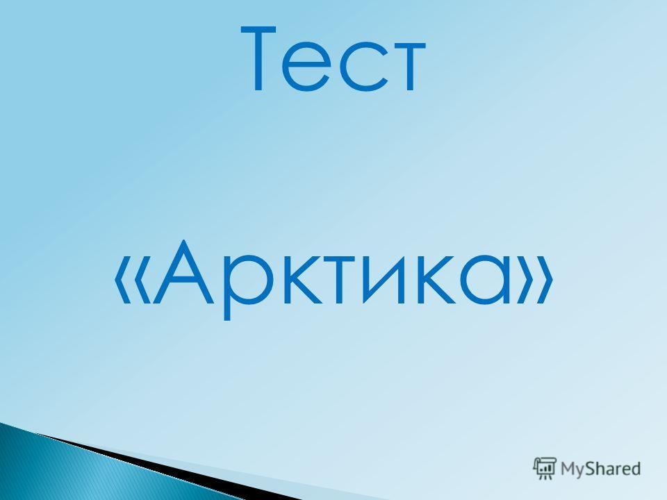 Тест «Арктика»