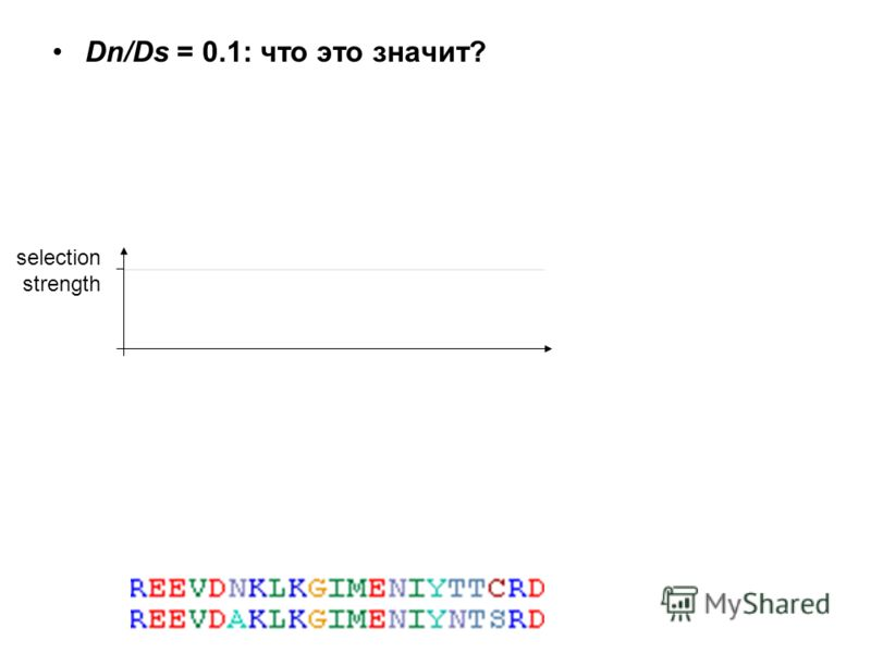 Dn/Ds = 0.1: что это значит? selection strength