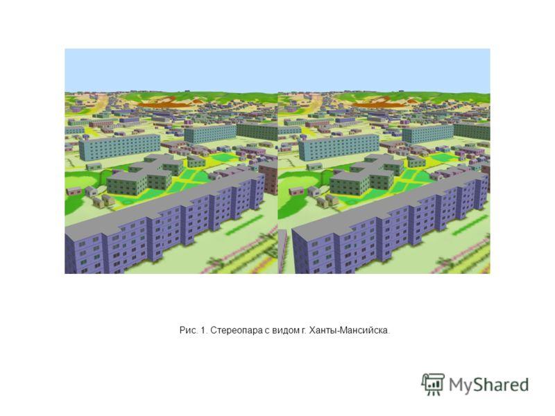 Рис. 1. Стереопара с видом г. Ханты-Мансийска.