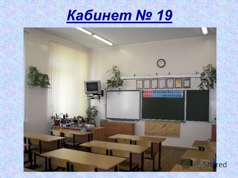 Кабинет 19