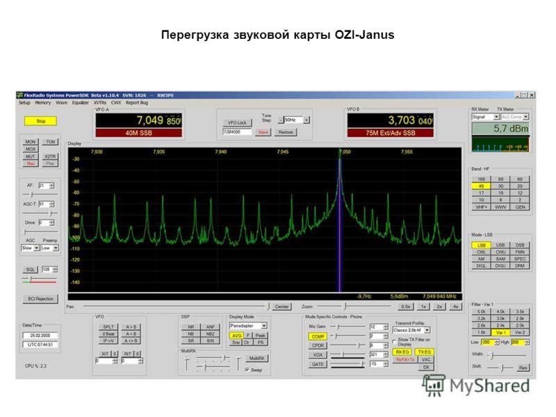 Перегрузка звуковой карты OZI-Janus