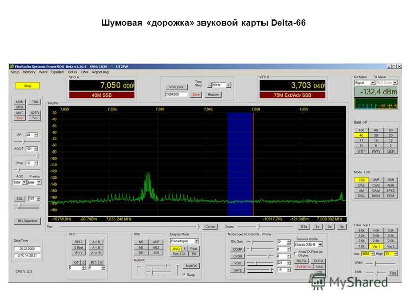 Шумовая «дорожка» звуковой карты Delta-66