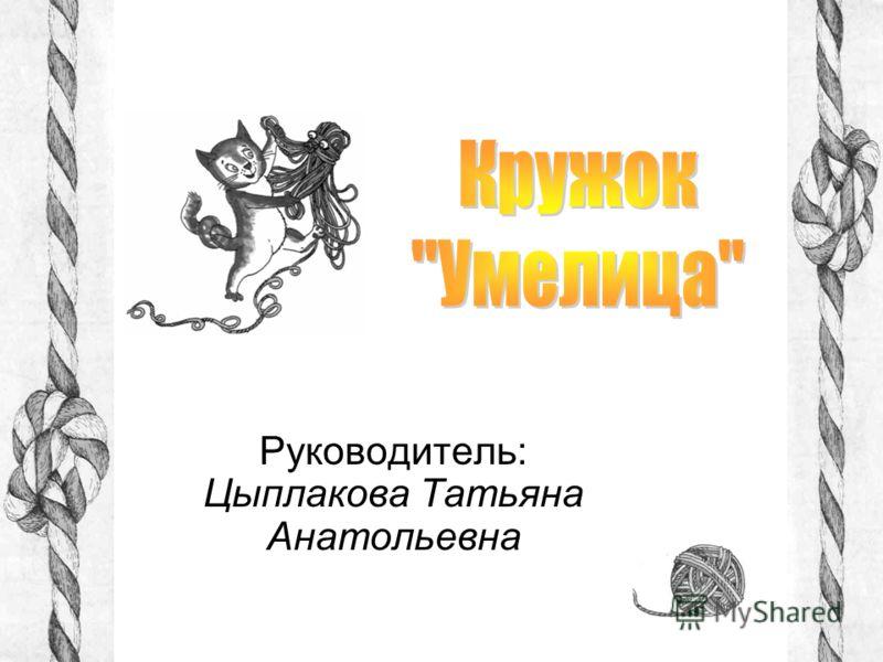 Руководитель: Цыплакова Татьяна Анатольевна