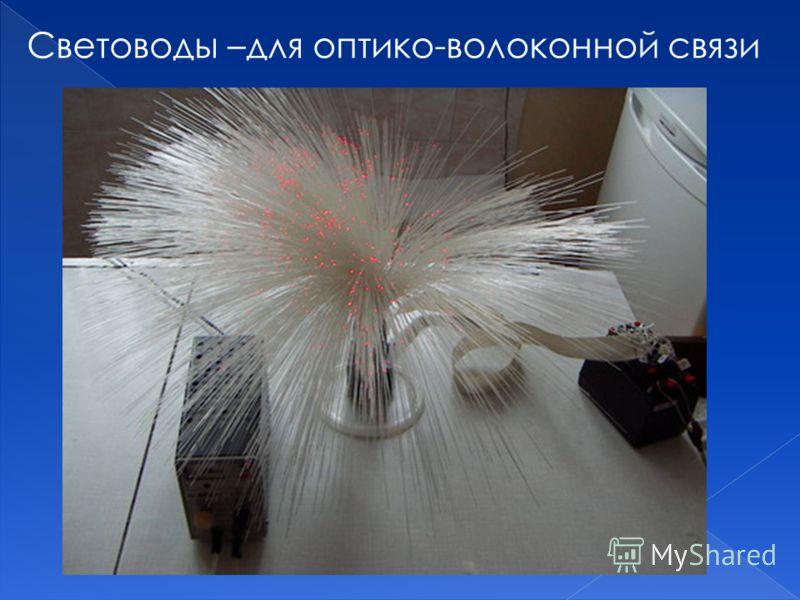 Световоды –для оптико-волоконной связи