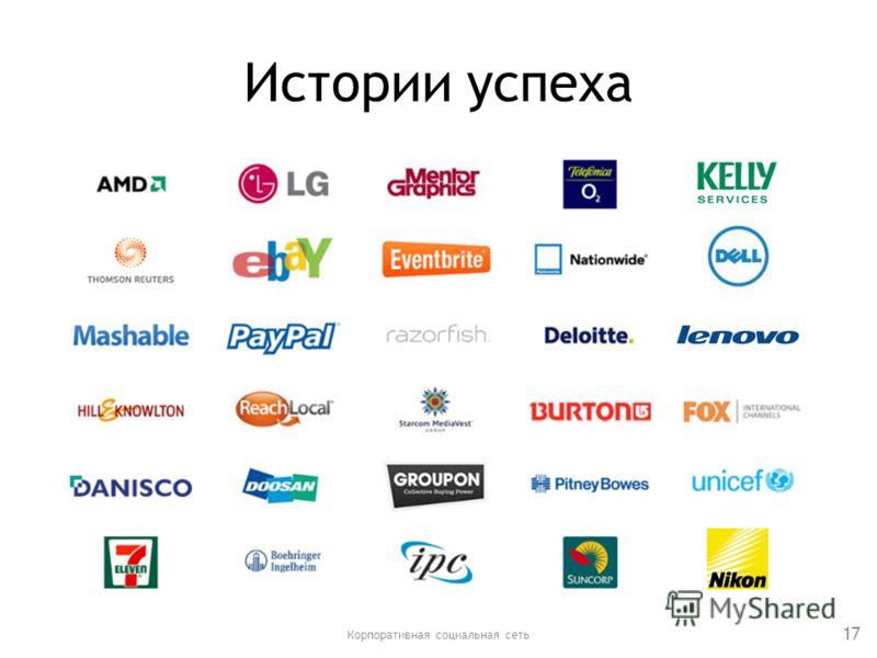 Истории успеха Корпоративная социальная сеть 17