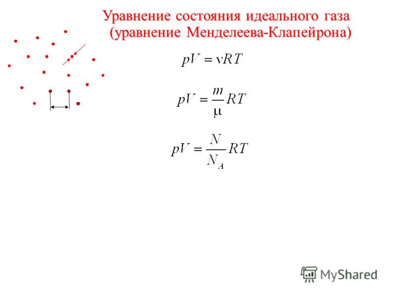 l a Уравнение состояния идеального газа (уравнение Менделеева-Клапейрона)