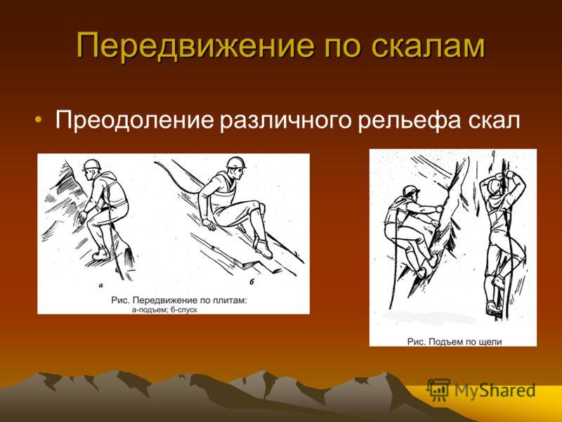 Передвижение по скалам Преодоление различного рельефа скал
