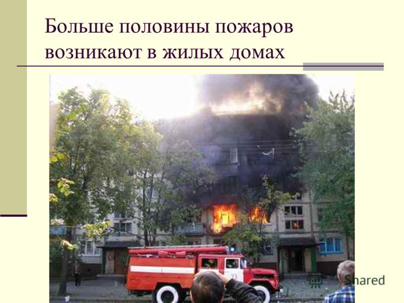 Больше половины пожаров возникают в жилых домах