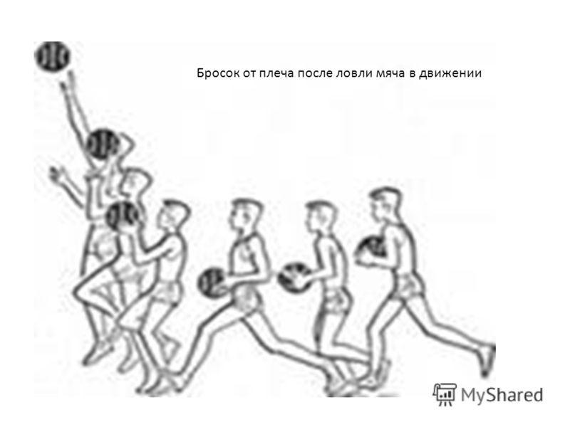 Бросок от плеча после ловли мяча в движении