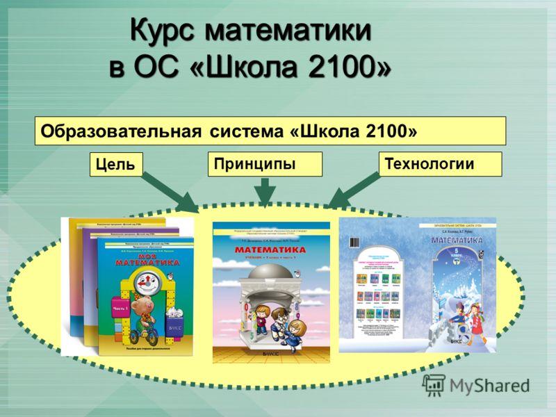 Курс математики в ОС «Школа 2100» Образовательная система «Школа 2100» Цель ПринципыТехнологии