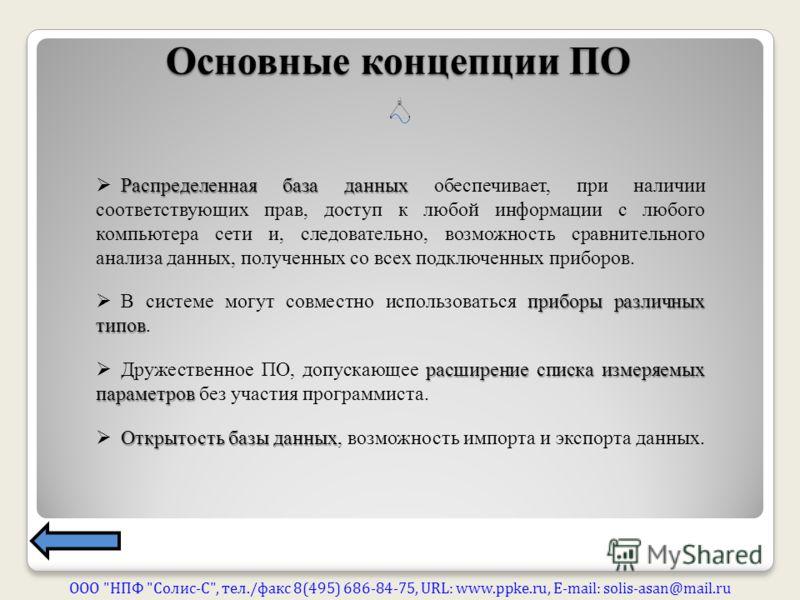 Основные концепции ПО ООО