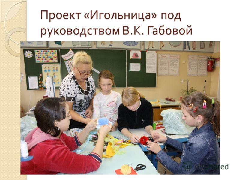 Проект « Игольница » под руководством В. К. Габовой