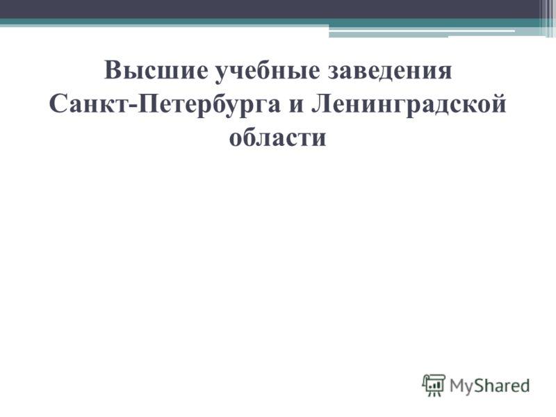 Высшие учебные заведения Санкт-Петербурга и Ленинградской области