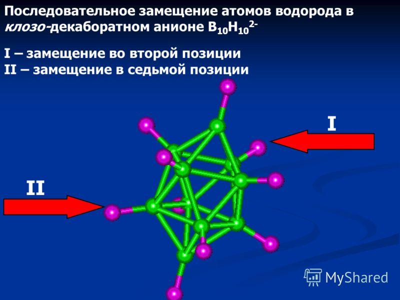 1211 Направление следующего замещения атома водорода в [B 12 H 11 Cl] 2-