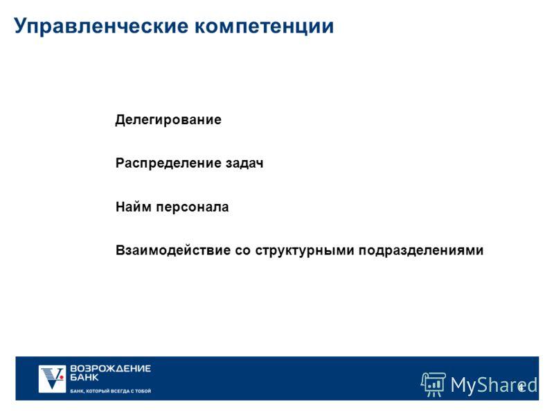 4 Делегирование Найм персонала Распределение задач Управленческие компетенции Взаимодействие со структурными подразделениями