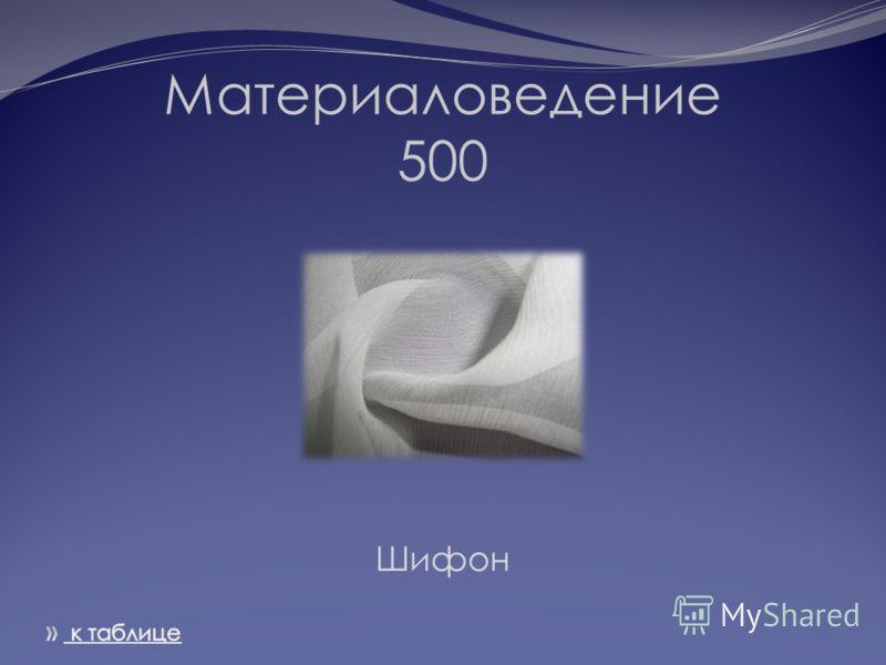 Материаловедение 500 Шифон