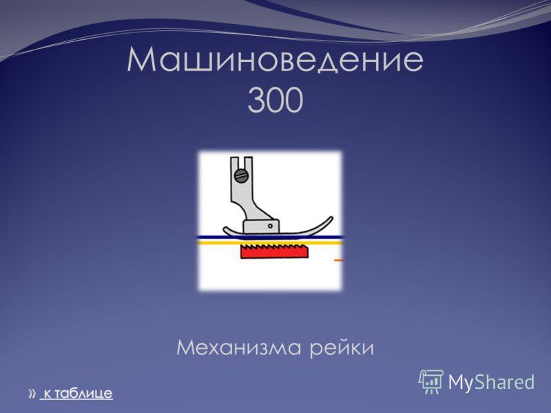 Машиноведение 300 Механизма рейки