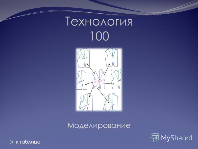 Технология 100 Моделирование