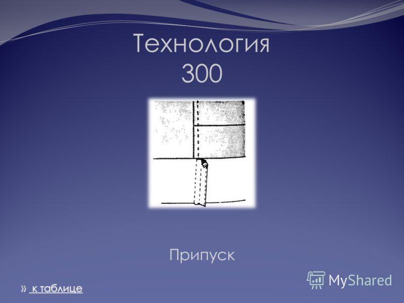 Технология 300 Припуск