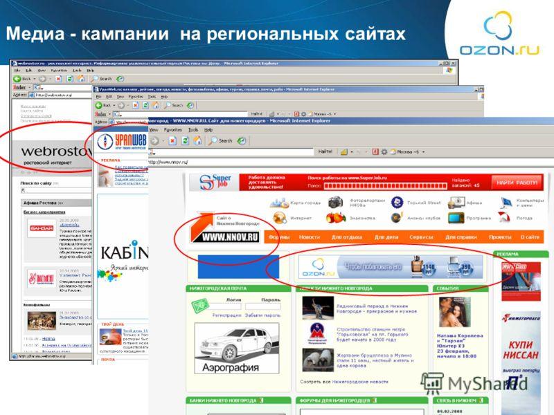 7 Mедиа - кампании на региональных сайтах