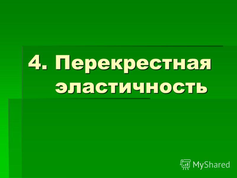 4. Перекрестная эластичность