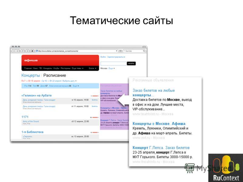 Тематические сайты