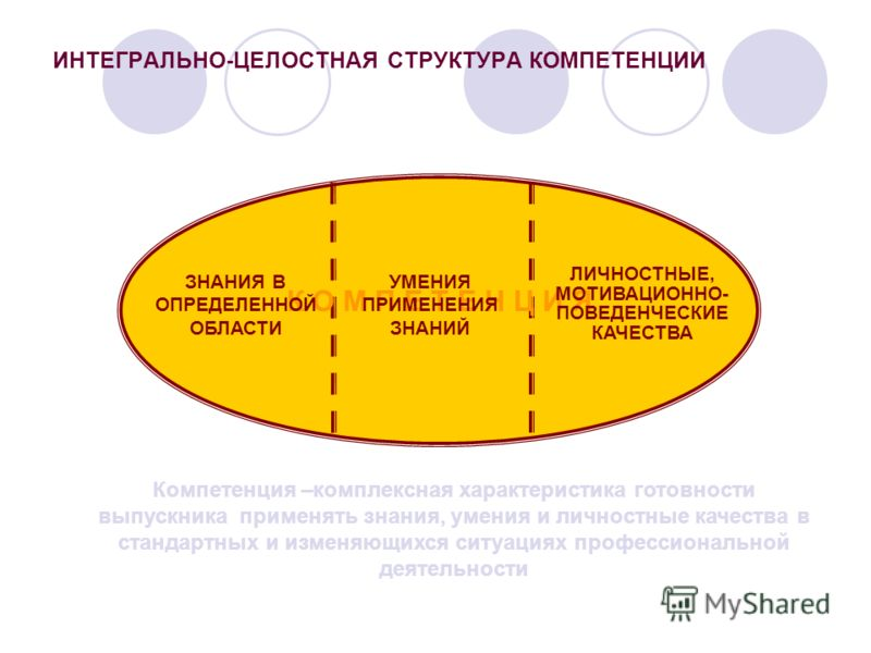 Понятие компетентности включает не только когнитивную и операционально-технологическую составляющую, но и мотивационную, этическую, социальную и поведенческую. Оно включает результаты обучения, систему ценностных ориентаций, привычки и др. Компетентн
