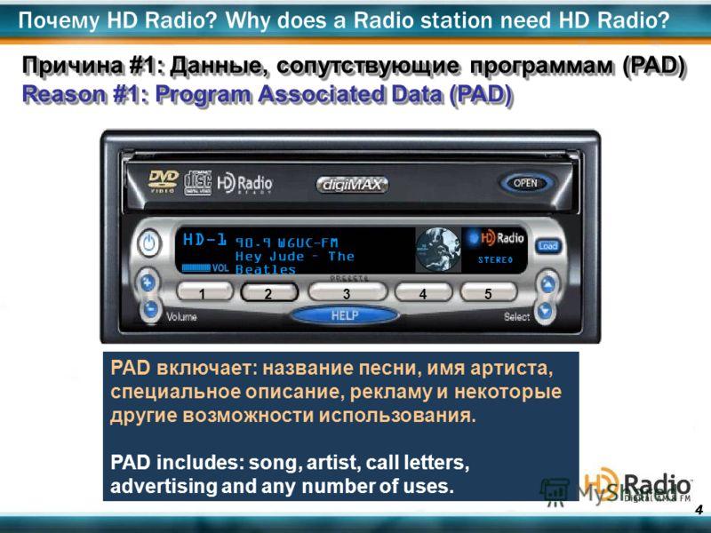 4 HD-1 90.9 WGUC-FM Hey Jude – The Beatles STEREO 1 2345 PAD включает: название песни, имя артиста, специальное описание, рекламу и некоторые другие возможности использования. PAD includes: song, artist, call letters, advertising and any number of us