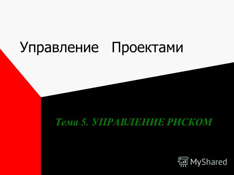 Управление Проектами Тема 5. УПРАВЛЕНИЕ РИСКОМ