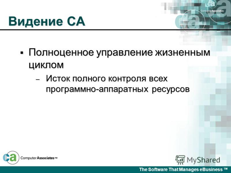The Software That Manages eBusiness Управление документооборотом системы управления сервисами