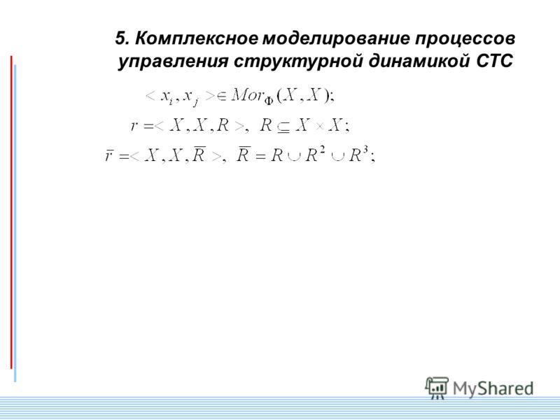СПИИ РАН 81 5. Комплексное моделирование процессов управления структурной динамикой СТС