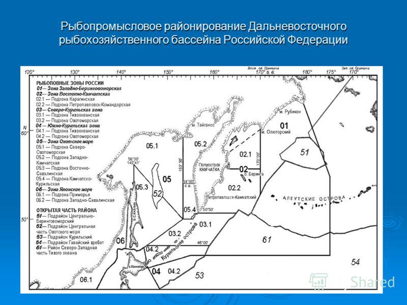 Рыбопромысловое районирование Дальневосточного рыбохозяйственного бассейна Российской Федерации