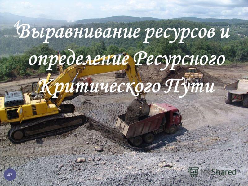 Выравнивание ресурсов и определение Ресурсного Критического Пути 4 47